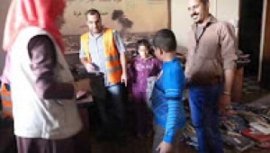 Distribution of children winter wears clothing campaign - Aid Gaza in partnership with the Welfare Association